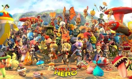 ゲームオン提供のスマホ向けRPG「HELLO HERO」、140万ダウンロード突破