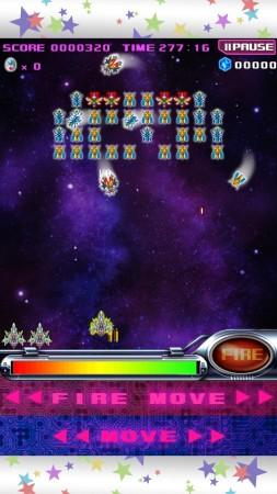 バンダイナムコゲームス、アニメ「スペース★ダンディ」と名作ゲーム「ギャラガ」のコラボタイトル「スペース★ギャラガ」のAndroid版をリリース2