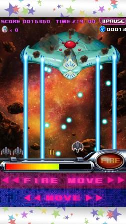 バンダイナムコゲームス、アニメ「スペース★ダンディ」と名作ゲーム「ギャラガ」のコラボタイトル「スペース★ギャラガ」のAndroid版をリリース3