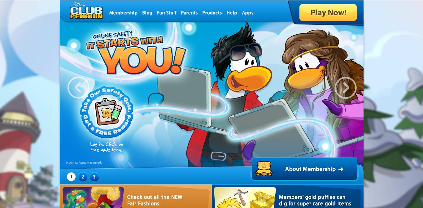 ディズニーの子供向け仮想空間「Club Penguin」、ネットいじめ撲滅キャンペーン「It Starts With You!」を開始