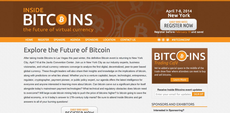 4/7-8にニューヨークにて仮想通貨「Bitcoin」専門のカンファレンスイベント「Inside Bitcoins」開催決定