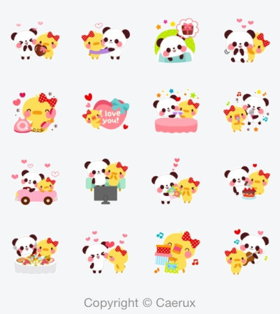カエルエックス、中国最大のメッセージングアプリ「WeChat」にバレンタインデー向けスタンプ「Nico and Mel」を提供2