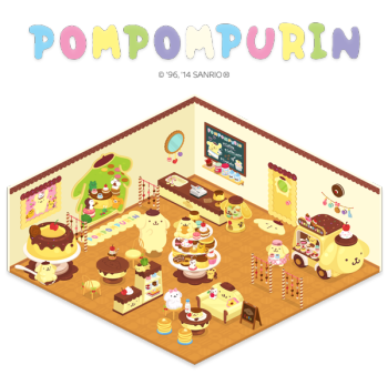 LINE Playにサンリオの「ポムポムプリン」の公式アバター&ルームが登場!