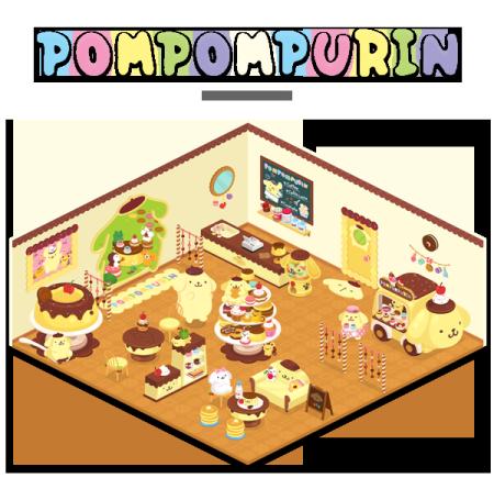 LINE Playにサンリオの「ポムポムプリン」の公式アバター&ルームが登場!1
