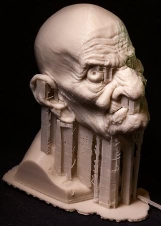特殊メイク界の巨匠リック・ベイカー、3Dプリンタ製の超絶技巧スタチューを公開5
