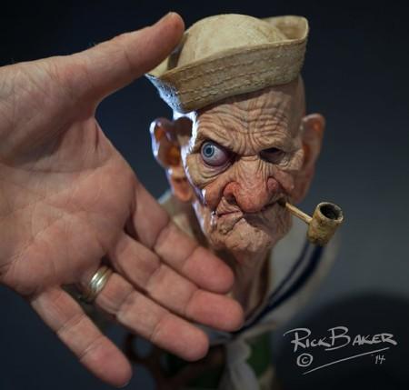 特殊メイク界の巨匠リック・ベイカー、3Dプリンタ製の超絶技巧スタチューを公開2