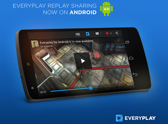 Applifier、スマホ向けゲームのプレイ動画を投稿・共有できる動画共有サービス「Everyplay」にてAndroid対応を開始