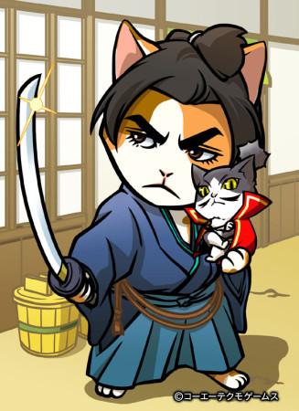コーエーテクモゲームス、ソーシャル戦国シミュレーションゲーム「のぶニャがの野望」にて「猫侍」とコラボ2