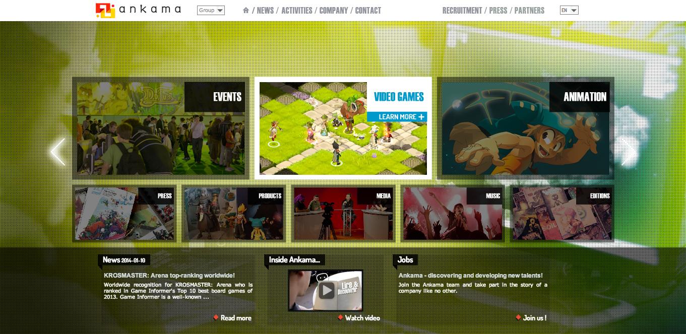 gumi、フランスのゲーム企業Ankamaと業務提携