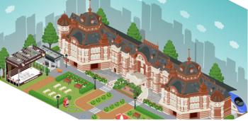 アメーバピグが東京駅開業100周年コラボ企画を実施 空間内に東京駅エリアをオープン ピグの3Dフィギュアもプレゼント!?
