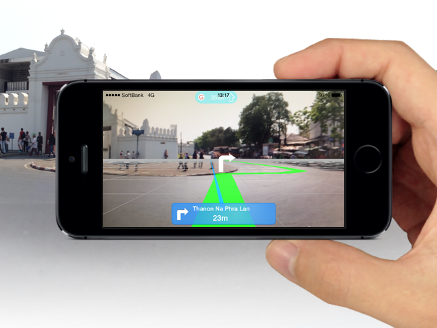 インクリメントP、iPhoneをかざすだけで海外都市を道案内するAR徒歩ナビアプリ「MapFan AR Global」をリリース