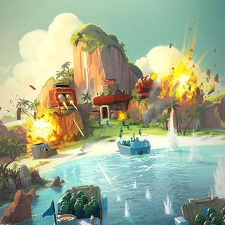 Supercell、スマホ向け最新タイトル「Boom Beach」を正式リリース 日本からもプレイ可能