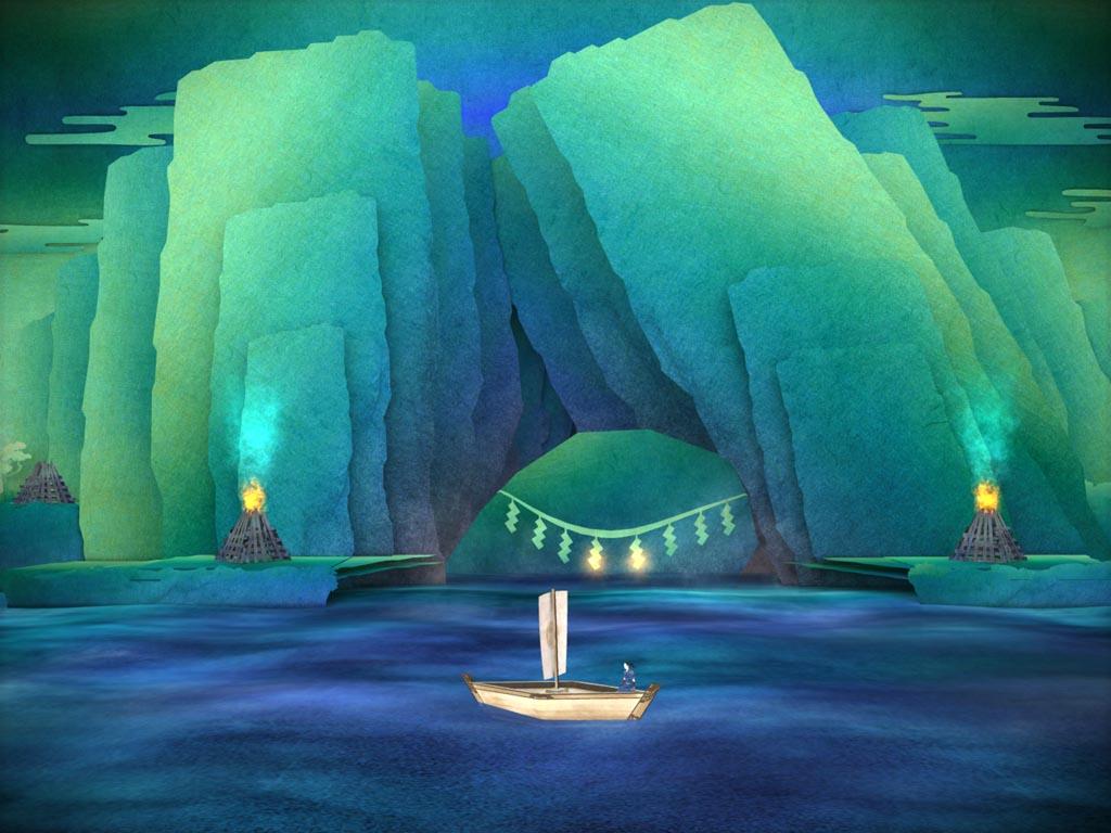 """""""飛び出す絵本""""風の純和風アドベンチャーゲーム「TENGAMI」がPCにも登場! PLAYISMで1/13より先行配信"""