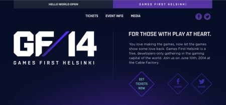 参加無料! 6/10にフィンランドにてゲーム系カンファレンスイベント「Games First Helsinki」開催
