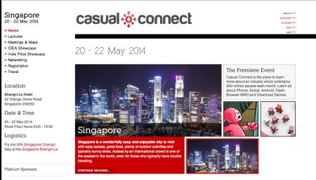 5/20-22、シンガポールにてソーシャル&モバイルゲームのカンファレンスイベント「Casual Connect Asia 2014」開催