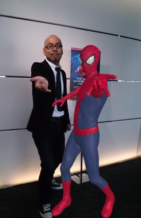 ソニービル、映画「アメイジング・スパイダーマン2」公開を記念しスパイダーマンの世界観を4K映像やARで体験できるイベントを実施3