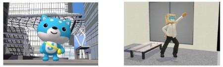 J-CASTニュースのイメージキャラクター「カス丸」が3D仮想空間「meet-me」に登場1