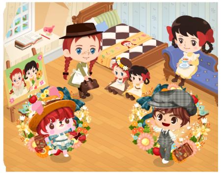 LINE Playに名作アニメ「赤毛のアン」の公式ルームが登場3