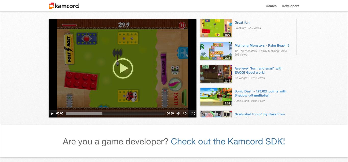 DeNA、アメリカのモバイルゲーム動画共有プラットフォーム「Kamcord」に出資