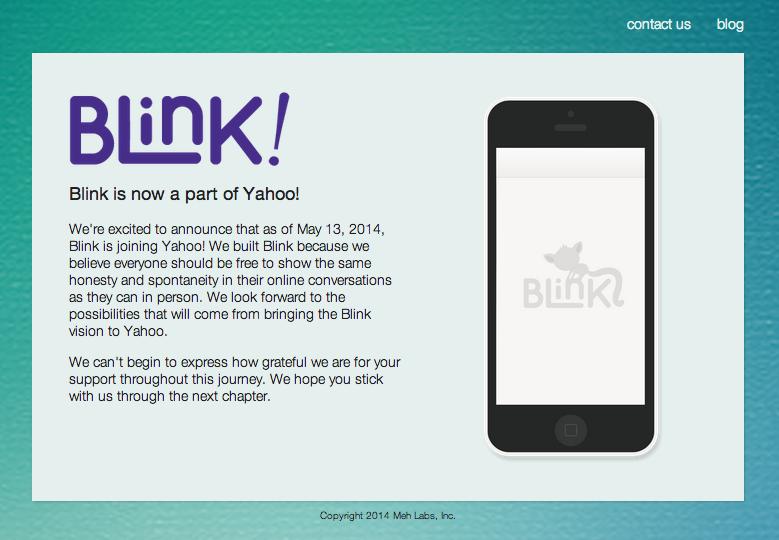 米Yahoo! スマホ向けメッセージングアプリ「Blink」を運営するMeh Labsを買収