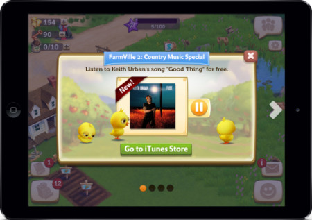 Zynga、農業ソーシャルゲーム「FarmVille 2」にてミュージシャンのキース・アーバンとコラボ2