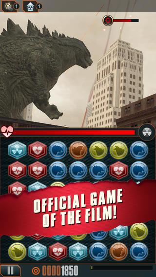 米Rogue Play、ハリウッド映画版「ゴジラ」の公式スマホゲーム「Godzilla - Smash3」をリリース1