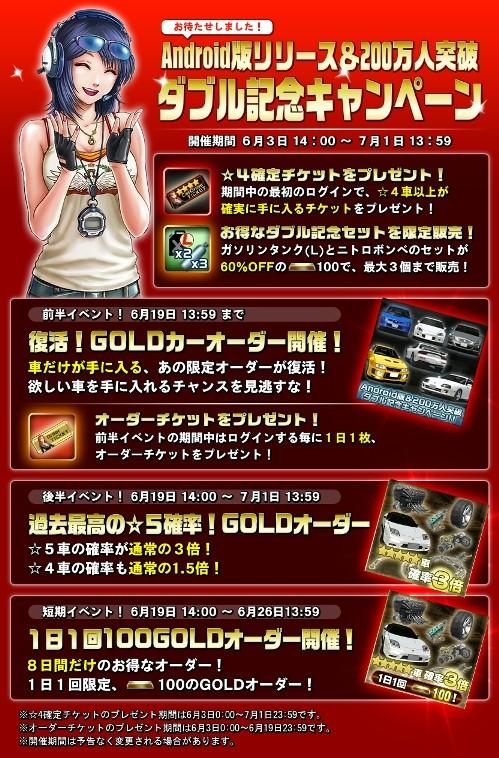 バンダイナムコゲームスのスマホ向けカーレースゲーム「ドリフトスピリッツ」、200万ダウンロードを突破2