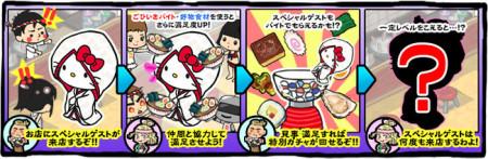 サミーネットワークス、ラーメン店経営シミュレーションゲーム「ラーメン魂」にてハローキティとコラボ2