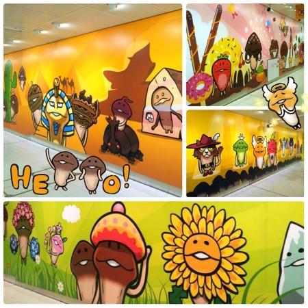 なめこ、香港にてサークルKともコラボ 九龍塘駅と銅鑼湾駅に巨大壁画も登場2