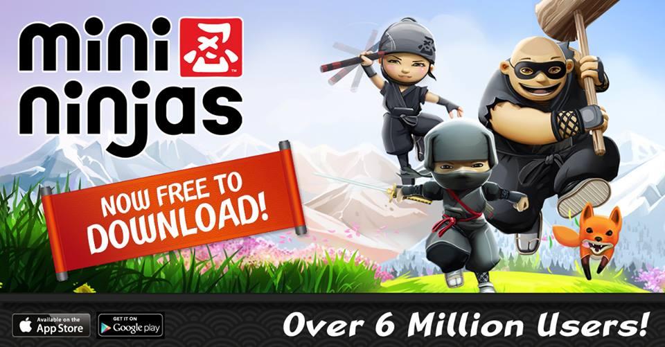 スクエニの海外向けスマホゲーム「Mini Ninjas」、600万ダウンロードを突破1