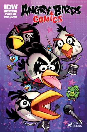 Angry Birds、コミック版にてロックバンド「KISS」とコラボ!