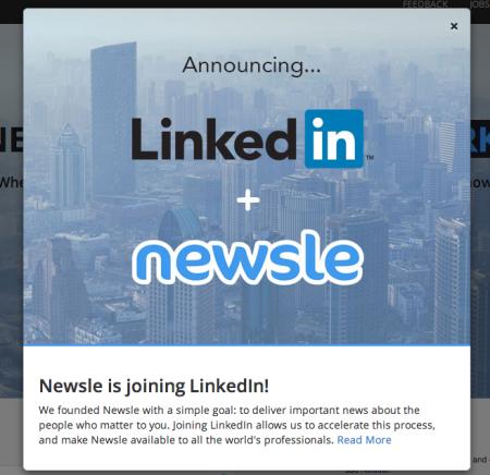 ビジネスSNSのLinkedIn、友達が掲載されたニュースを教えてくれるサービス「Newsle」を買収
