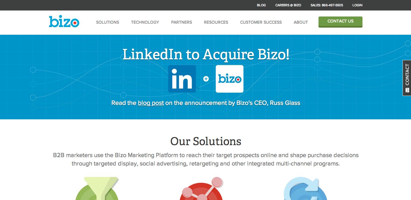 ビジネスSNSのLinkedIn、ビジネスマーケティングを手がけるBizoを買収