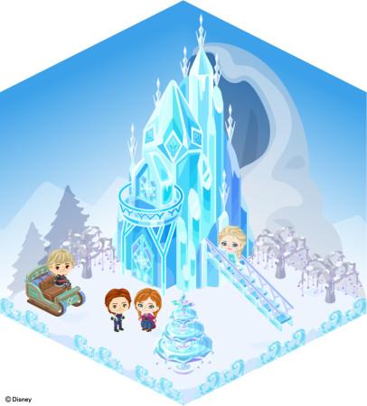 アメーバピグにディズニーの大ヒット映画「アナと雪の女王」エリアがオープン2