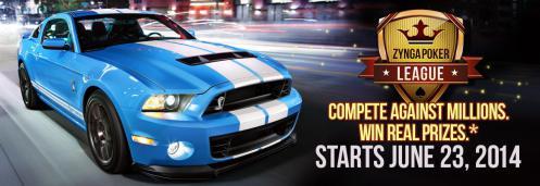 Zynga、ソーシャル・ポーカーゲーム「Zynga Poker」にて本物のフォードShelby GT500が貰えるイベントを実施中