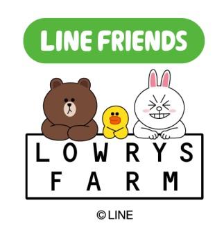 LOWRYS FARM、LINEキャラクターとのコラボグッズを発売1