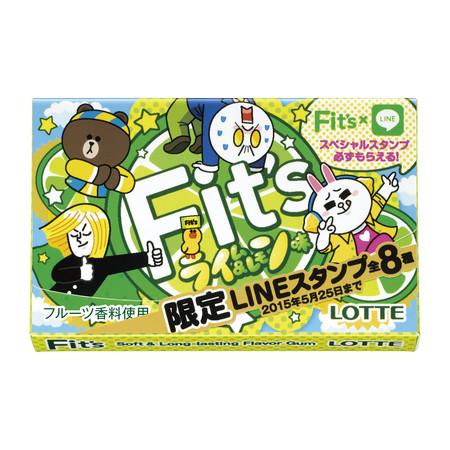 チューインガムのFit'sがLINEとコラボ! 「Fit's <ライム&レモン味>」を8/26より発売