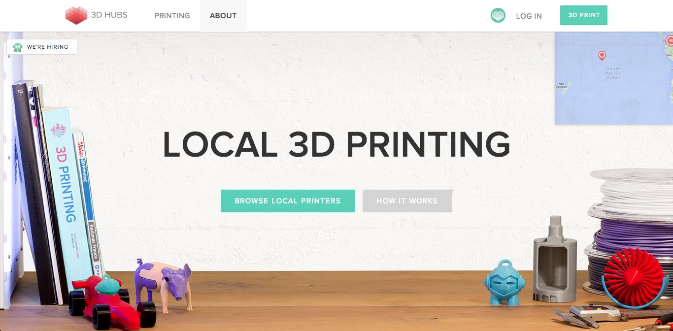 3Dプリンタ共有サービス「3DHubs」、シリーズAにて450万ドルを調達