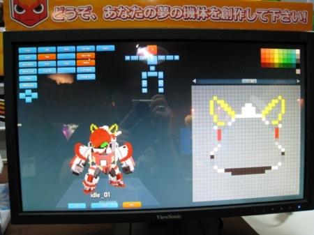 【TGS2014レポート】自分でロボットをカスタムして戦うスマホ向けひっぱりアクションゲーム「Qubot」 ロボットのデータは3Dプリンタ出力も可能7