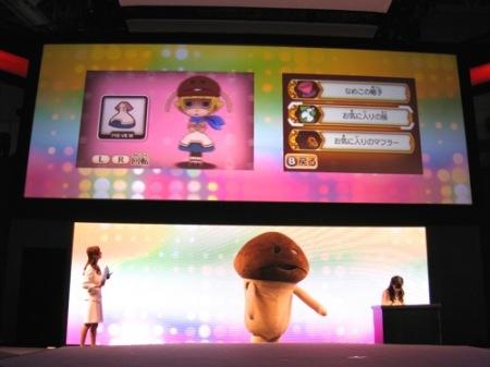 【TGS2014】福原遥さんも「なめこリズム」をプレイ!  リアルなめこも登場したミニライブをレポート5