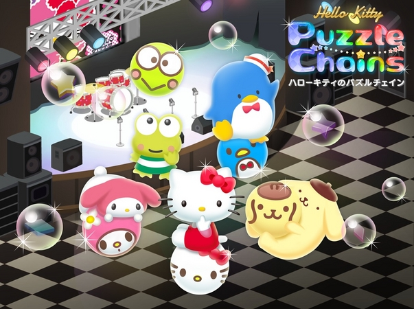 サンリオキャラのスマホ向けパズルゲーム「ハローキティのパズルチェイン」が150万ダウンロードを突破 話題のキャラ「KIRIMIちゃん.」も参戦決定!