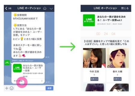 LINEのオーディションプロジェクト「LINE オーディション」、明日よりユーザー投票審査を開始2