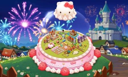 ゲームヴィルジャパン、スマホ向けレストラン経営ゲーム「シロンのシークレットガーデン」にてハローキティとコラボ3