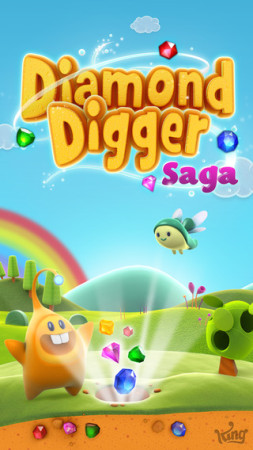 King、新作パズルゲーム「Diamond Digger Saga」のスマホ版をリリース1