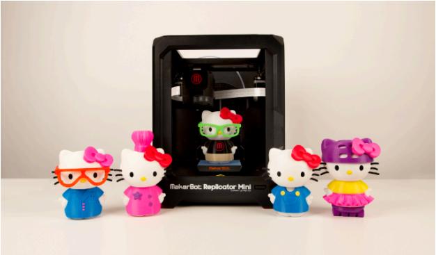 MakerBotとサンリオ、ハローキティの40周年を記念し3Dプリンタで出力可能なデータを配布