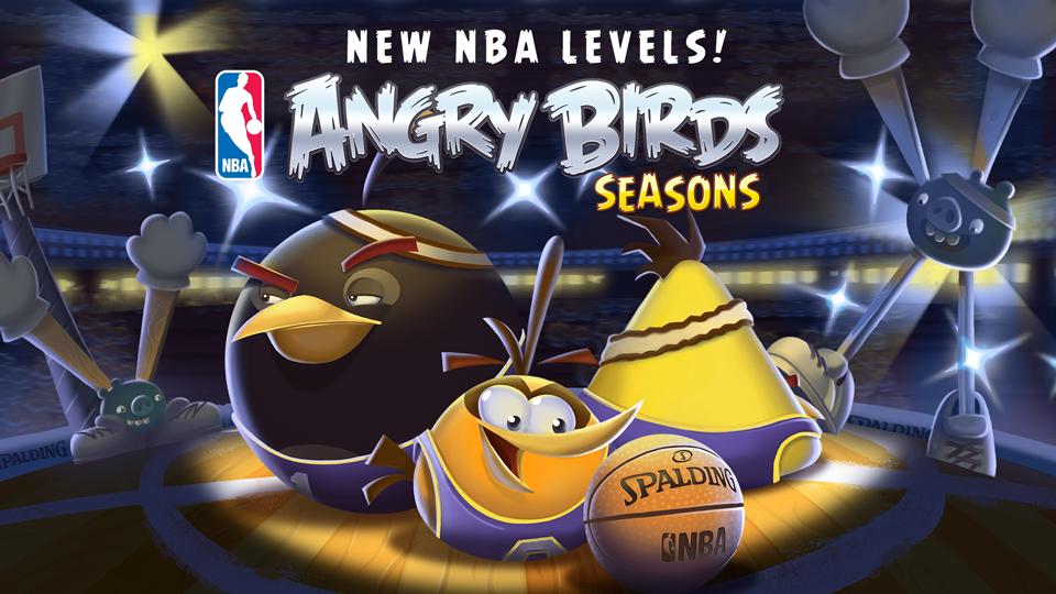 Rovio、Angry Birdsの季節版「Angry Birds Seasons」にてNBAとコラボ