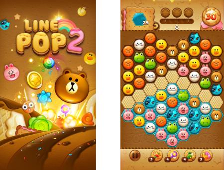 LINE、人気パズルゲーム「LINE POP」の後継タイトル「LINE POP2」をリリース