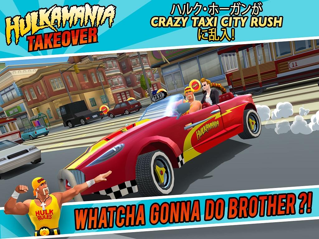 ハルク・ホーガンが「クレタク」に登場! セガネットワークス、「Crazy Taxi:City Rush」でハルク・ホーガン祭り開催1