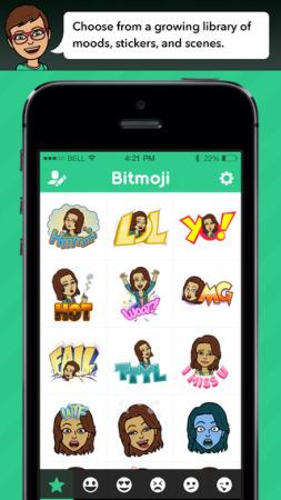自分の1コママンガが作れるアバターサービス「Bitstrips」、アバターをスタンプにできるスマホアプリ「Bitmoji」をリリース2