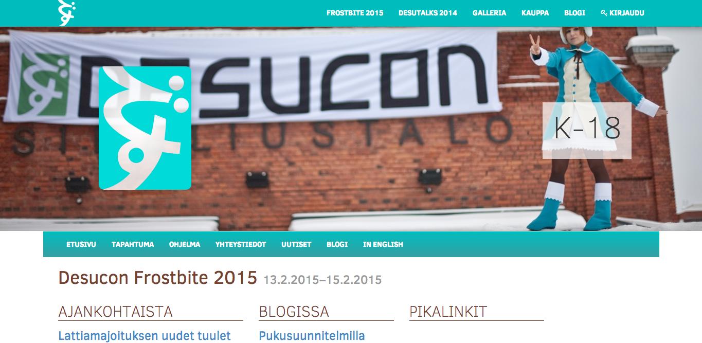 来年2/13-15、フィンランド・ラハティにて日本のアニメとマンガに特化したイベント「Desucon Frostbite 2015」開催